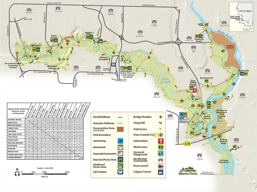 Fish Creek Provincial Park Map