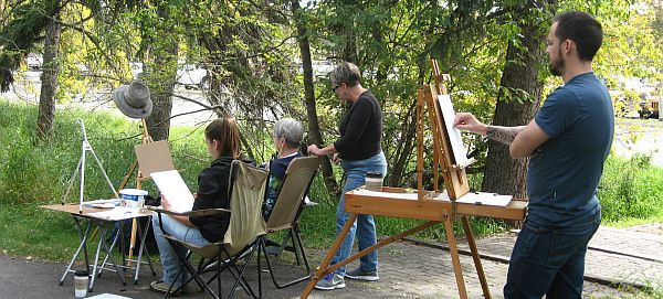 Art and nature in Fish Creek